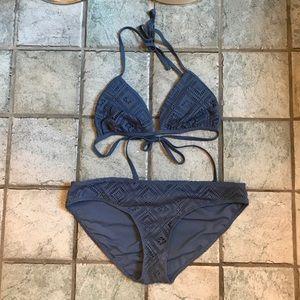 Aerie patterned triangle bikini